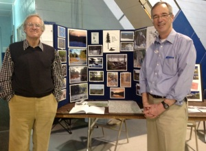 BOS President Bob Lux and board member Martin Murray, at the BOS kiosk. (Photo credit: Eric Anderson)